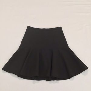 Elizabeth and James Black Fit and Flare Skirt